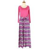 IYESH Maxi Baleto Tribal [HEMIM349 - M349] - Pink (Merchant) - Gamis Wanita