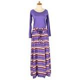 IYESH Maxi Baleto Tribal [HEMIM349 - M349] - Purple (Merchant) - Gamis Wanita