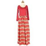 IYESH Maxi Baleto Tribal [HEMIM349 - M349] - Red (Merchant) - Gamis Wanita