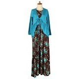 IYESH Maxi Desya [SUMI0105 - M105] - Brown (Merchant) - Maxi Dress Wanita