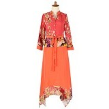 IYESH Maxi [HEDB0836 - 290836] - Orange (Merchant) - Maxi Dress Wanita