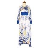 IYESH Maxi Kezia [IYMI0142 - 0142] - Blue (Merchant) - Gamis Wanita