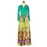 IYESH Maxi Kimono [IYNN2107 - 2107] - Green (Merchant) - Maxi Dress Wanita