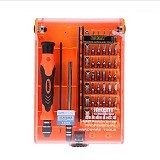 JAKEMY Interchangeable 45 in 1 Precision Screwdriver Set Repair Tools [JT-8128] - Obeng Set