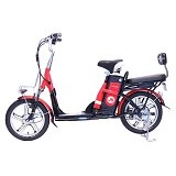 JEFFERYS E-Bike - Red - Sepeda Listrik