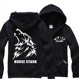 JERSICLOTHING Jaket Hoodie Game of Thrones Size XXL - Black - Jaket Casual Pria