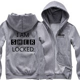 JERSICLOTHING Jaket Hoodie I Am Sherlocked Size M - Grey