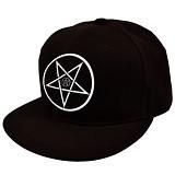 JERSICLOTHING Snapback Pentagram [1609-snap-18] - Black (Merchant) - Topi Pria