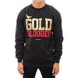 JERSICLOTHING Sweater Gold Blooded Polyflex Print Size S - Black