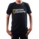 JERSICLOTHING T-Shirt National Geographic 01 Velvet Print Size L - Black - Kaos Pria