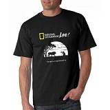 JERSICLOTHING T-Shirt National Geographic Live 02 Velvet Print Size XXL - Black - Kaos Pria
