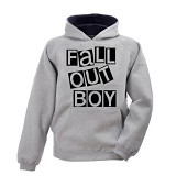 JERSICLOTHING Unisex Hoodie Fall Out Boy Size XXL - Grey - Jaket Casual Pria