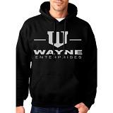 JERSICLOTHING Unisex Hoodie Wayne Entreprise Size S - Black - Jaket Casual Pria