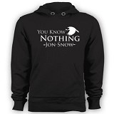 JERSICLOTHING Unisex Hoodie You Know Nothing Jon Snow Size XL - Black - Jaket Casual Pria