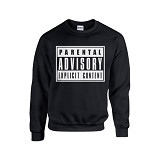 JERSICLOTHING Unisex Sweater Parental Advisory Hitam Size  XL - Black - Sweater / Cardigan Pria