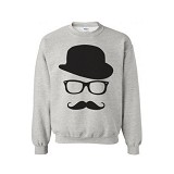 JERSICLOTHING Unisex Sweater Sherlock Holmes Abu-Abu Size M - Grey - Sweater / Cardigan Pria