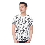 JINSHOUSE T Shirt Full Print Typography Size M [006-TS.004] - Kaos Pria