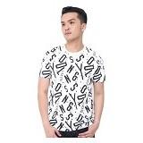 JINSHOUSE T Shirt Full Print Typography Size L [006-TS.004] - Kaos Pria