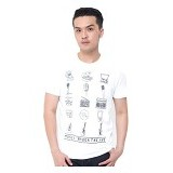 JINSHOUSE T Shirt Music Trough The Age Size S [006-TS.002] - White - Kaos Pria