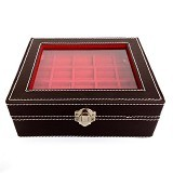JOGJA CRAFT Box Cincin Batu Akik Kaca Jahit - Brown - Jewelry Organizer