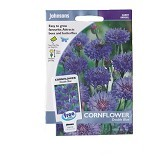 JOHNSONS SEED Cornflower Double Blue - Bibit / Benih Tanaman Hias