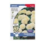 JOHNSONS SEED Marigold (African) Vanilla F1 - Bibit / Benih Tanaman Hias