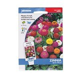 JOHNSONS SEED Zinnia Sprite Mixed - Bibit / Benih Tanaman Hias