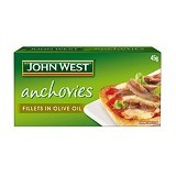 JOHN WEST Anchovies Fillets In Olive Oil 45gr - Box & Kalengan Hasil Laut