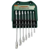 JONNESWAY 72 Teeth Reversible Ratcheting Combination Wrench Set SAE 7 Pcs  [W60207S]
