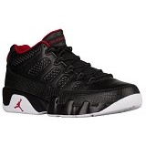 JORDAN RETRO 9 Low Size 10 [32822001] - Black Gym Red White (Merchant) - Sepatu Basket Pria
