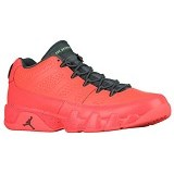 JORDAN RETRO 9 Low Size 11 - Bright Mango Hasta Ghost Green (Merchant) - Sepatu Basket Pria