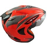 JPX Supreme Eagle Fluorescent Size L - Red (Merchant) - Helm Motor Half Face