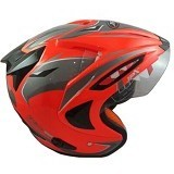 JPX Supreme Eagle Fluorescent Size M - Red (Merchant) - Helm Motor Half Face