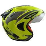 JPX Supreme Eagle Fluorescent Size M - Yellow (Merchant) - Helm Motor Half Face