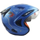 JPX Supreme Solid Size L - Blue Metallic (Merchant) - Helm Motor Half Face