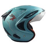 JPX Supreme Solid Size L - Ice Blue (Merchant) - Helm Motor Half Face