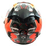 JPX Supreme Supreme Speed Machine Size M - Fluorescent Red (Merchant) - Helm Motor Half Face
