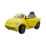 JUNIOR Child Mobil Aki Accu VW [W-486] - Yellow (Merchant) - Ride On and Tricycles