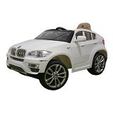JUNIOR Child Mobil Aki [BMW X6 JJ-258] - White (Merchant) - Ride On and Tricycles