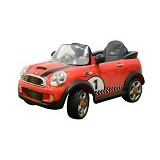 JUNIOR Child Mobil Aki Mini Cooper S [W-446] - Red (Merchant) - Ride On and Tricycles