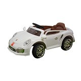 JUNIOR Child Mobil Aki Porsche [TR-1402] - White (Merchant) - Ride On and Tricycles