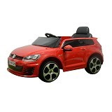 JUNIOR Child Mobil Aki Volkswagen Golf [GTI FJ-528] - Red (Merchant) - Ride On and Tricycles
