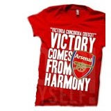 JURAGAN KAOS Quotes Arsenal Size M - Red - Kaos Pria