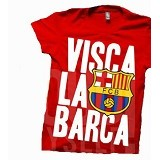 JURAGAN KAOS Quotes Barcelona Size M - Red - Kaos Pria