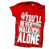 JURAGAN KAOS Quotes Liverpool Size L - Red - Kaos Pria