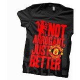 JURAGAN KAOS Quotes Manchester United Size XL - Black - Kaos Pria