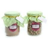 JUST A LITTLE TREAT Paket Hemat Sweet Almond Milk + Premium Pearl Bubble Minijar Size 250gr - Minuman Serbuk Rasa Buah
