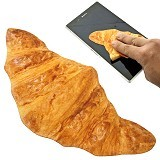 KADOUNIK Microfiber Realistic Printed Bread Type Cleaner - Croissants - Cleaning Sachet