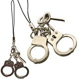 KADOUNIK Pinkie Handcuffs Cell Phone Strap With the Key - Gantungan Handphone