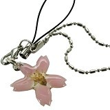 KADOUNIK Real Bloomed Birthday Flower Phone Strap (Sakura Cherry Blossom for April) - Gantungan Handphone